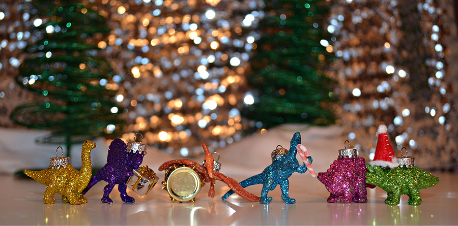 want - Dinosaur Christmas Decorations