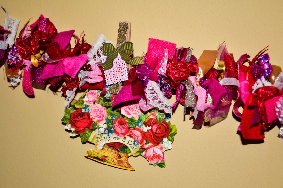Valentine's Day Ribbon Garland - Love Colorful
