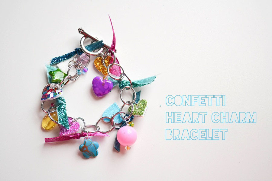 LoveColorful_Confetti Heart Charm Bracelets_0001