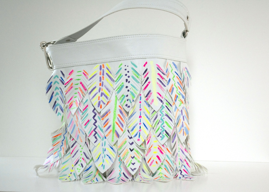 LoveColorful_Painted Feather Purse_0008