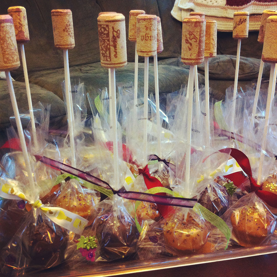 Wine Cake Pops Cakes Colorful