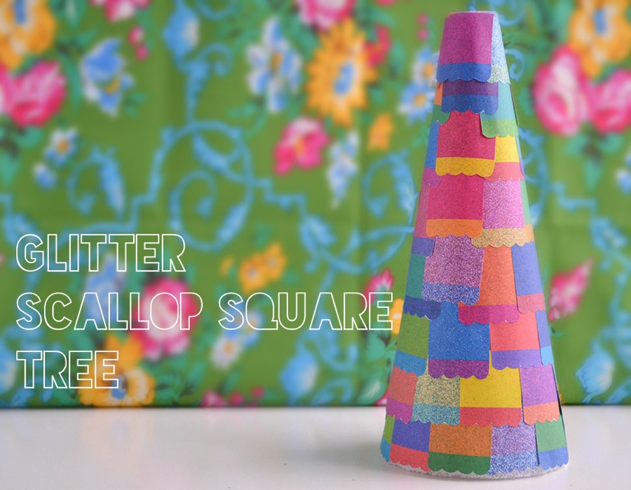 LoveColorful_Glitter Scallop Square Tree_0001