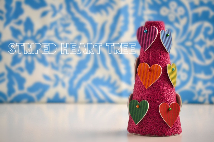 LoveColorful_Striped Heart Tree_0001