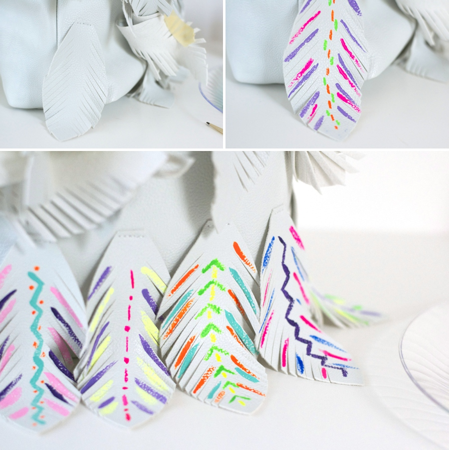 LoveColorful_Painted Feather Purse_0003